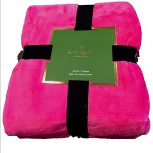 "Kate Spade 50""x70"" Plush Fleece Throw Hot Pink"